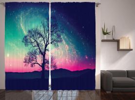 Magische Aurora Borealis Vorhang