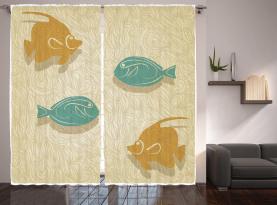 Aquarium Meereswellen Vorhang