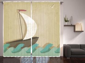 Seemöwen Bootfahren Marine Vorhang