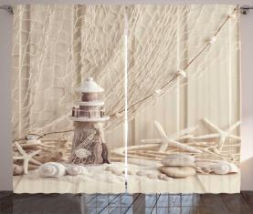 Marine Fischernetz Vorhang