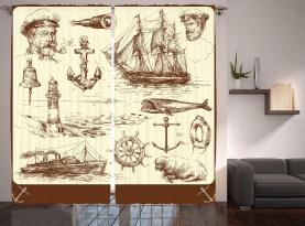 Oceanic Zeichnungseffekt Vorhang