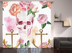 Anker Rosen Pfingstrose Art Vorhang