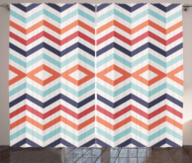 Zickzack Linien Streifen Vorhang