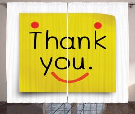Danke Emoji Smiley-Gesicht Vorhang