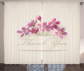 Blumen Danke Vorhang