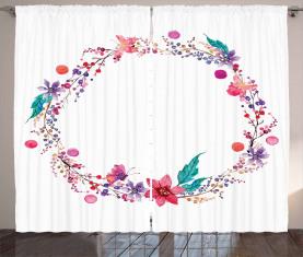 Schmetterlings-Blätter Vorhang