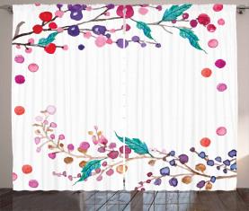 Bunte Zweige Vorhang