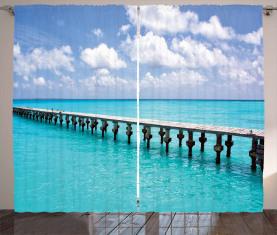 Ente im sonnigen Tag des Ozeans Vorhang