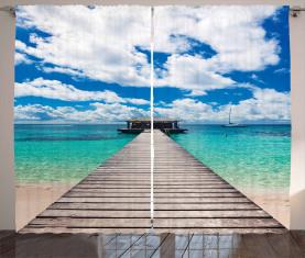 Exotische karibische Seelandschaft Vorhang