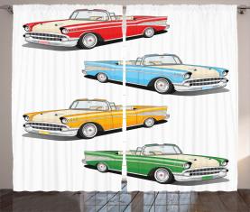 Roadster Old Vintage Vorhang