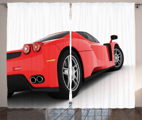 Rotes Supersportwagen Vorhang