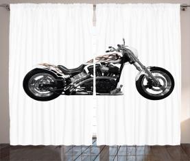 Motorrad-Power-Fahrt Vorhang