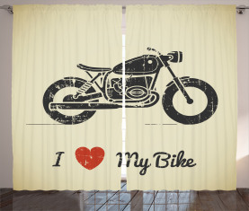 Grunge flaches Motorrad Vorhang