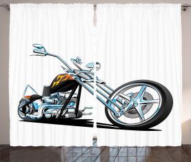 Amerikanischer Motorradsport Vorhang