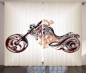 Curvy Blumenfahrrad Vorhang