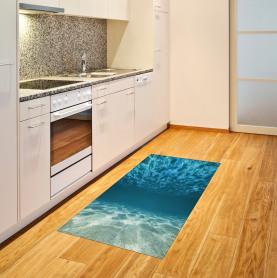 Gewellte tropische Komposition Teppich