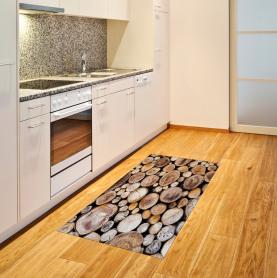Holzscheite Eiche Teppich