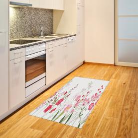 Blumen Beeren und Kräuter Teppich