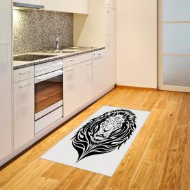 Löwe-Porträt Teppich