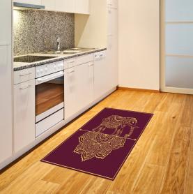 Afrikanische Tier Mandala Teppich