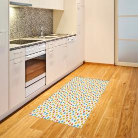 Bunte Punkt-Muster Teppich
