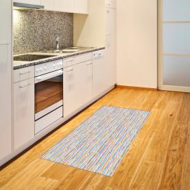 Bunte Streifen-Linien Teppich