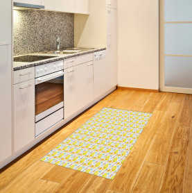 Abstract Summer Flowers Area Rug