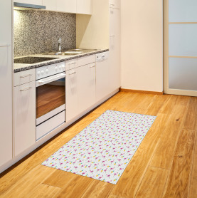 Flamingo and Pineapple Area Rug