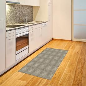 Blumen-Wirbel-Kurven Teppich
