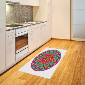 Geometrisches Herz-Laub Teppich