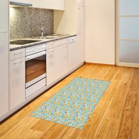 Tropisches Blumenmotiv Teppich