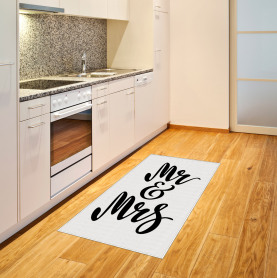 Hand Lettering Pattern Area Rug