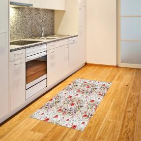 Romantische Blumen Blätter Teppich