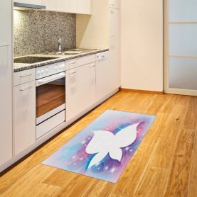 White Floral Magical Area Rug