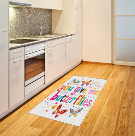 Quote Hearts Cartoon Area Rug