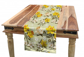 Floral Narcissus Branch Table Runner