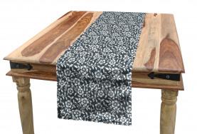 Monochrome Plant Table Runner