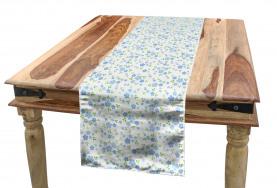 Small Wild Flowers Blue Table Runner