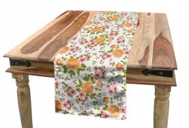 Peony Poppy Bridal Theme Table Runner