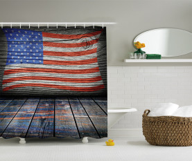 Patriotic National Flag Shower Curtain