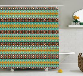 Stammes-Kunst-Muster Duschvorhang