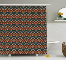 Ethnische Kunst Design Duschvorhang