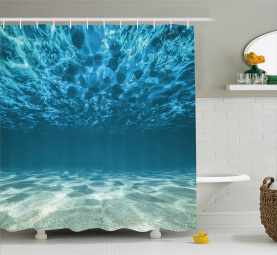 Gewellte tropische Komposition Duschvorhang