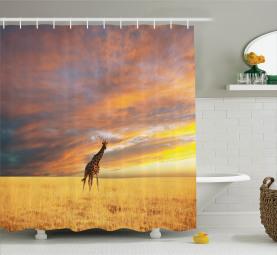 African Wildlife Shower Curtain