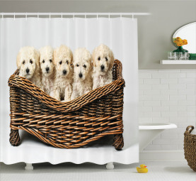 Cute Little Baby Puppies Shower Curtain