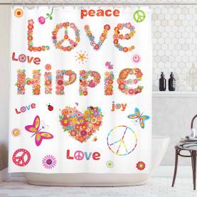 Liebe Hippie Vivid Floral Duschvorhang