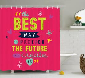 Motivierende Typografie Duschvorhang