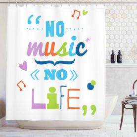 Keine Musik, kein Lebensslogan Duschvorhang
