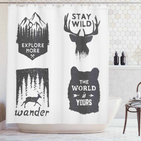 Stay Wild and Wander Shower Curtain