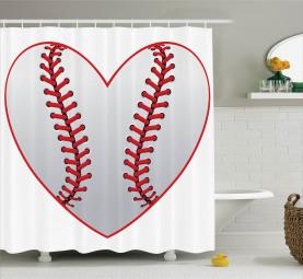 Leidenschaft für Baseballthema Duschvorhang